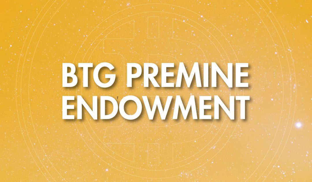 The Bitcoin Gold Premine Endowment