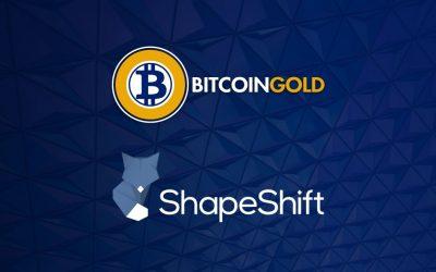 ShapeShift Supports Bitcoin Gold