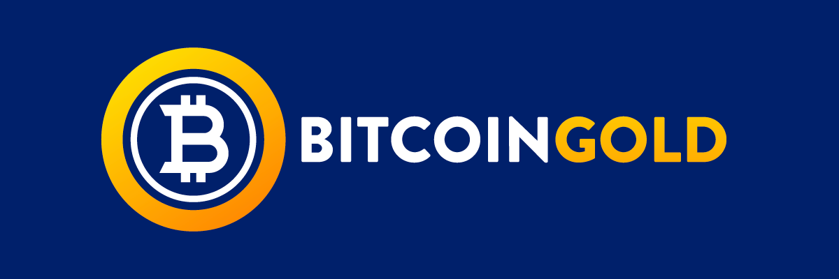 Bitcoin Gold BTG Logo Color Blue Background